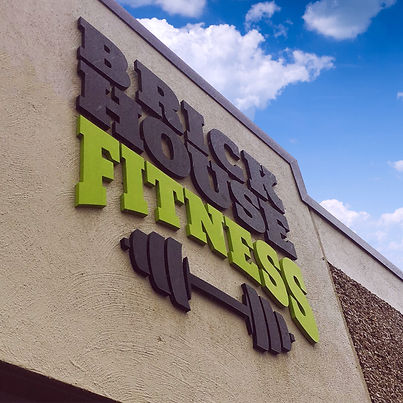 Brick House Fitness Sign