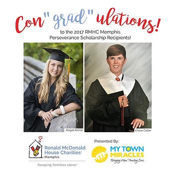 RMHC Perseverance Scholarship recipients