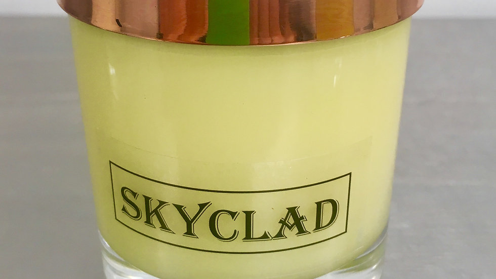 SMALL COPPER TOP SKYCLAD CANDLE