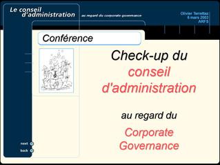 Le check-up du conseil d'administration au regard du gouvernement d'entreprise