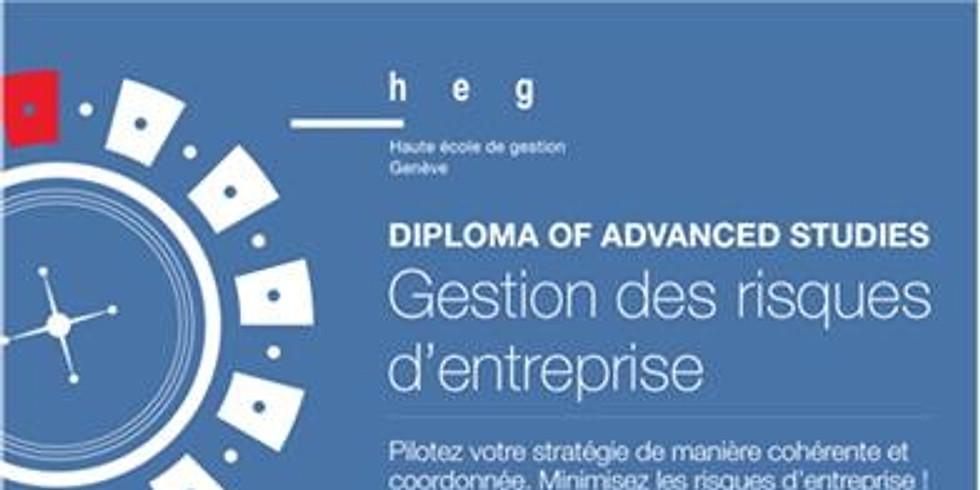 F - 7, 8, 21 et 22.06.2019 > Genève | heg | DAS GRE - Module 10, Gouvernance, Gestion des risques & SCI