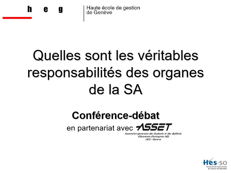 Introduction de la conférence à la HEG par Olivier Terrettaz
