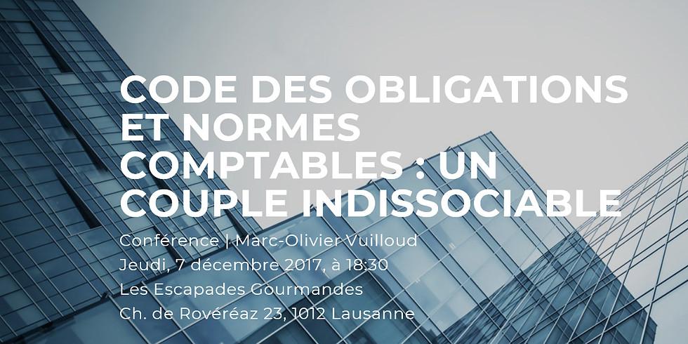 7 décembre 2017 > Lausanne | ceec | Conférence - Code des obligations et normes comptables : un couple indissociable