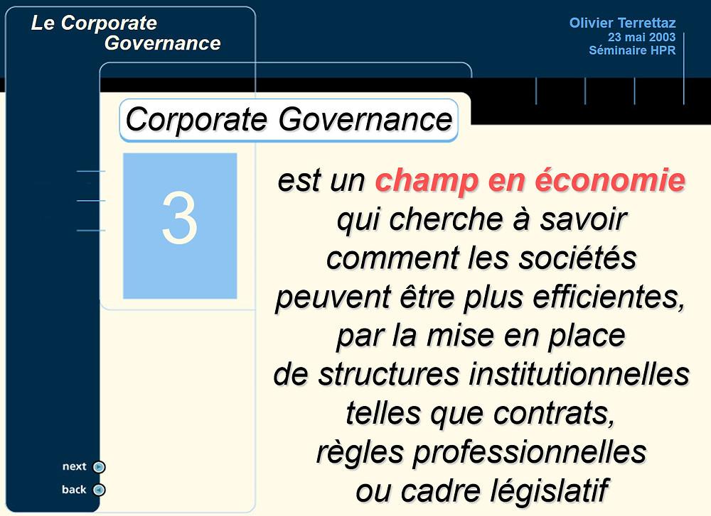 Formation en entreprise sur le Corporate Governance