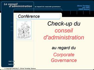 Le Conseil d'administration au regard du gouvernement d'entreprise