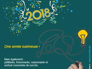 Tous nos vœux... pour des projets lumineux en 2018