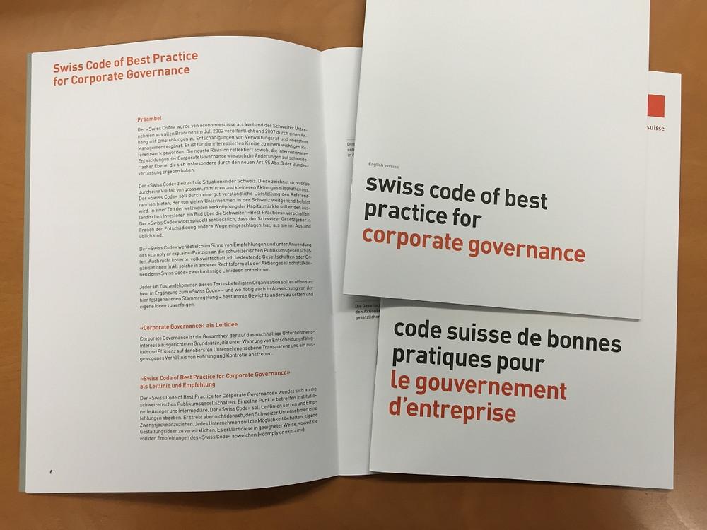 Code suisse de bonnes pratiques d'economiesuisse