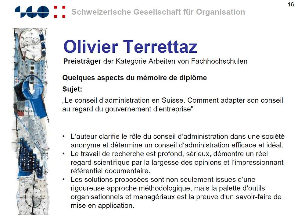Olivier Terrettaz gagnant du prix SGO 2002