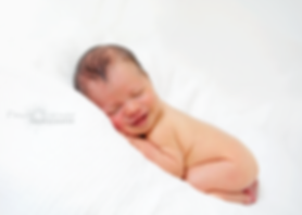 Newborn Photography, Baby smiling