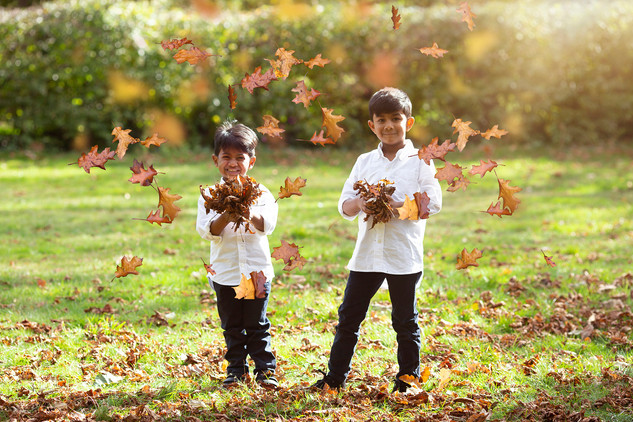 throwing leaves, autumn photography