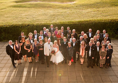Wedding Photography, Large group shot from above, Wedding day