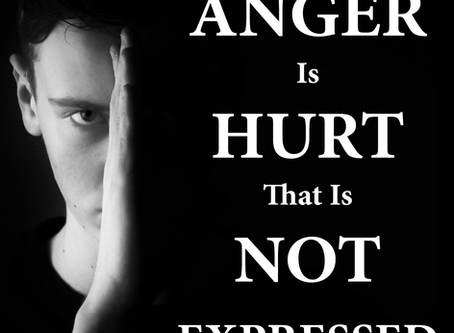 ANGER IS HURT THAT IS NOT EXPRESSED