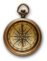 Old Fashioned Brass Compass Speaking Voice Coach