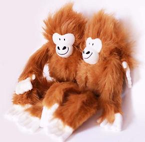 peluche personnalisée mascotte entreprise, singe orang-outan