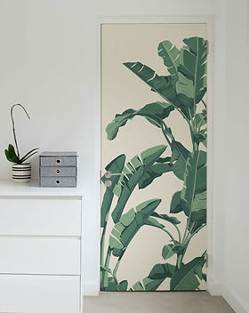 tropical leaves decor solution