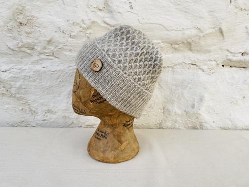 British Wool Honeycomb Beanie Hat