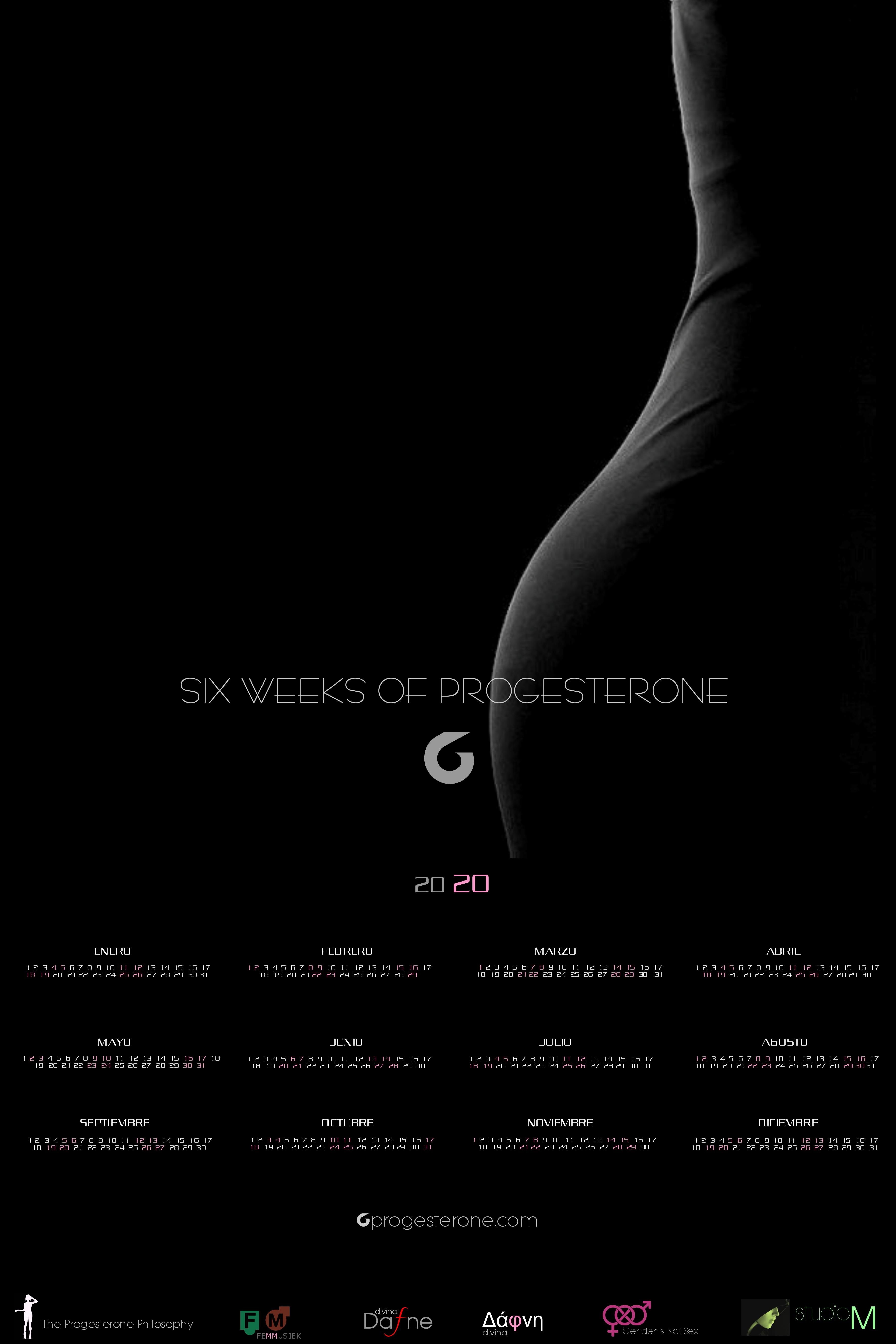 Progesterone Calendar 2020