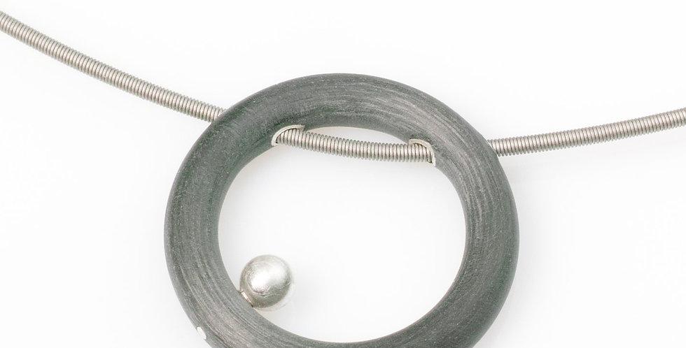Collier - Kreis mit Perle