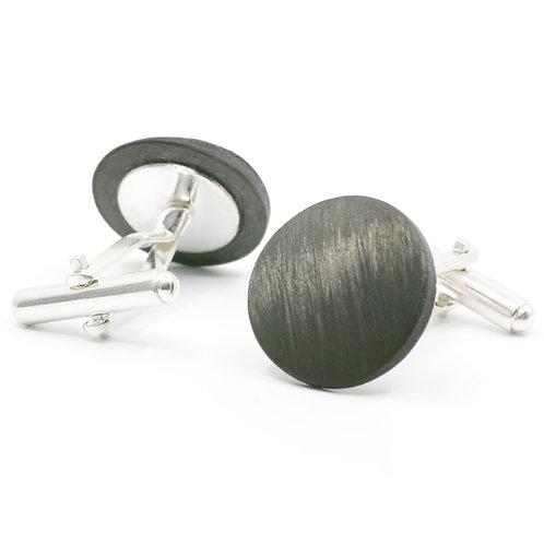 Carbon Manschettenknöpfe - rund