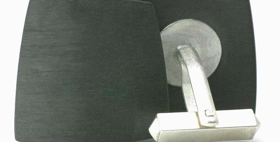 Carbon Manschettenknöpfe - trapez