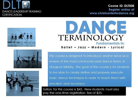 DLT008: Dance Terminology