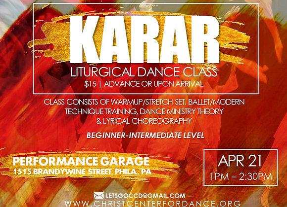 KARAR Liturgical Dance Classes