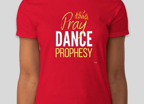 Pray, Dance, Prophesy Tee (Red)