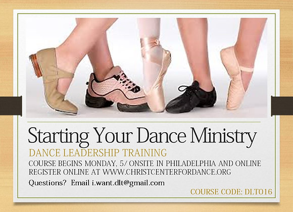DLT012: Starting Your Dance Ministry