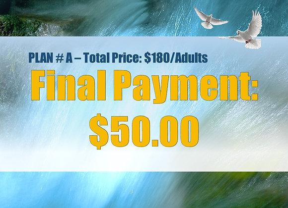 Plan #A - Final Payment, Adult