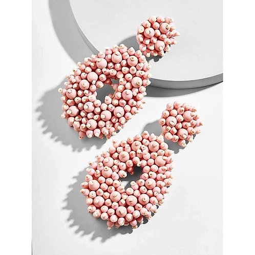 Abbie Earrings - Pink