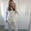 Thumbnail: 'Millie' Knitted Loungewear Set - Cream