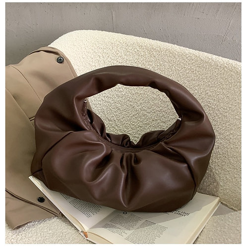 Luxe Slouchy Shoulder Bag - Chocolate Brown