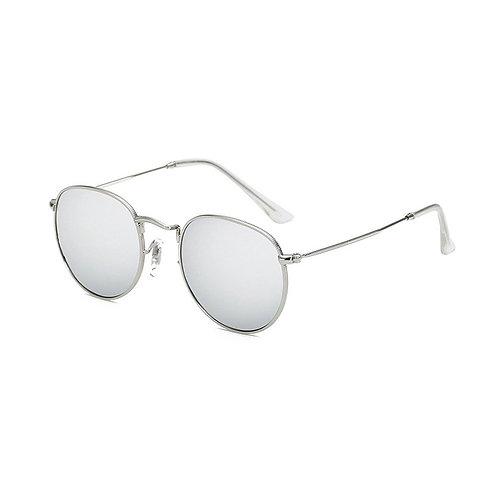 'Dubai' Round Sunglasses - Mirrored