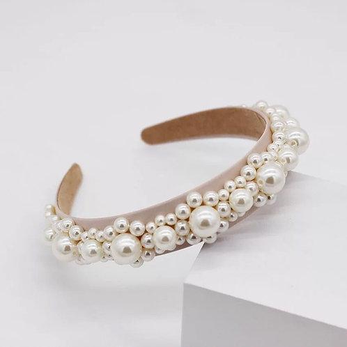Beige Pearl Headband