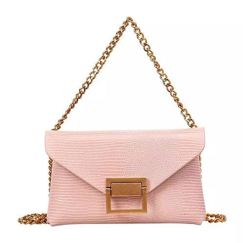 SAMPLE: Pink Chain Crossbody/Belt Bag