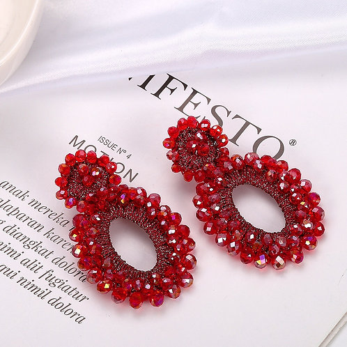 Isabelle Earrings - Red