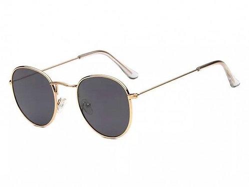 'Dubai' Round Sunglasses - Gold and Black
