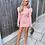 Thumbnail: Puff Shoulder Jumper Dress - Pink