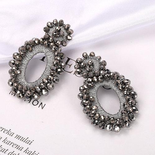 Isabelle Earrings - Grey