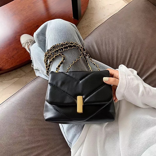 'Grace' Chain Bag - Black