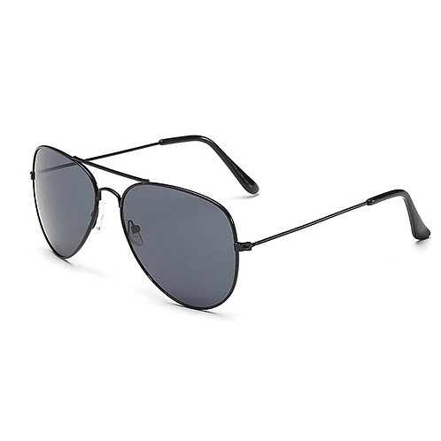 'Miami' Aviator Sunglasses - Black