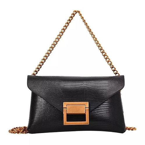 SAMPLE: Black Chain Crossbody/Belt Bag