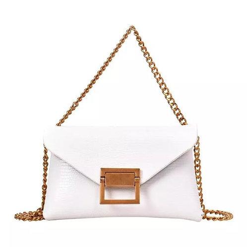 SAMPLE: White Chain Crossbody/Belt Bag