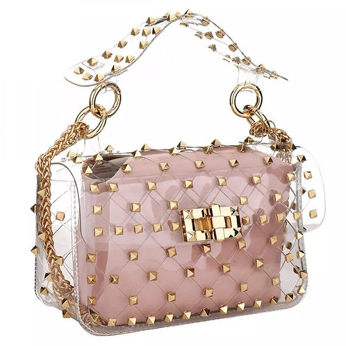 Perspex Studded Chain Bag