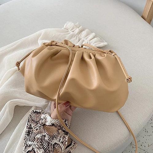 Mini Cloud Pouch Bag - Tan