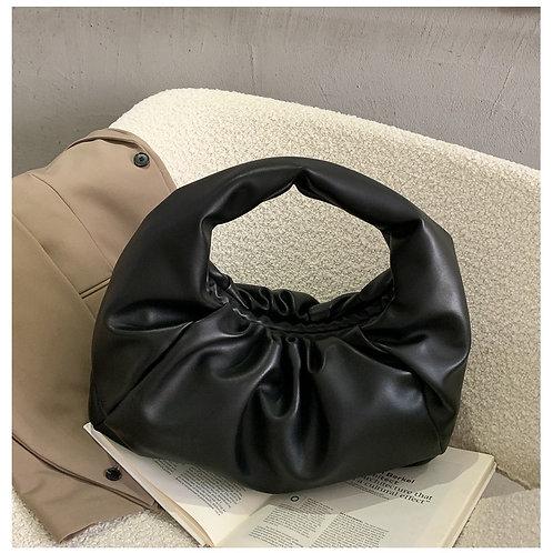 Luxe Slouchy Shoulder Bag - Black