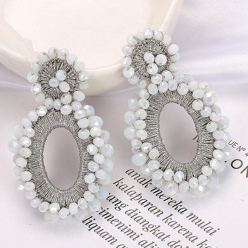 Isabelle Earrings - White