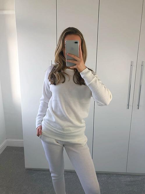 'Millie' Knitted Loungewear Set - Cream
