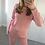 Thumbnail: 'Millie' Knitted Loungewear Set - Pink