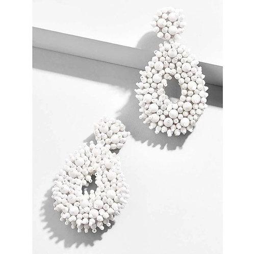 Abbie Earrings - White